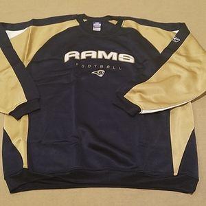 NWOT Rams Football Reebok metallic sweatshirt